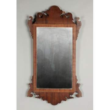 Chippendale Inlaid Mahogany Mirror