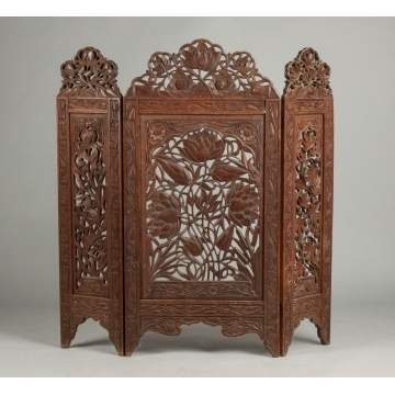Pierce Carved Fire Screen