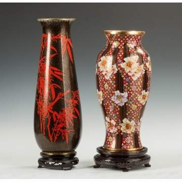 Two Contemporary Cloisonné Vases