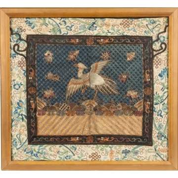 Chinese Needlework Panel