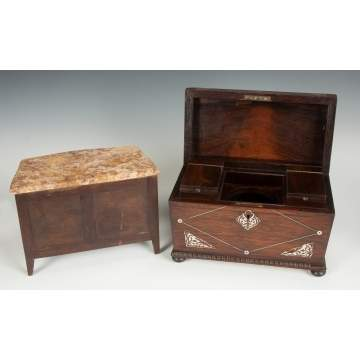 Miniature Chest & Tea Caddy