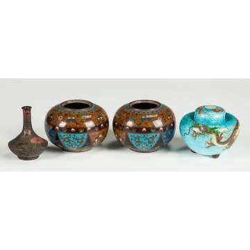 Japanese Vase, Jars & Censor