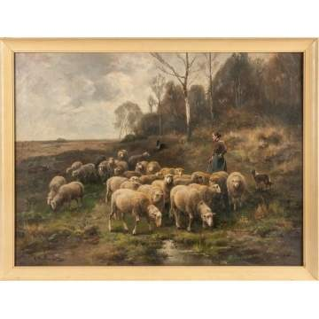 Cornelis van Leemputten  (Belgium/Dutch, 1841-1902) Sheep
