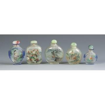 Five Chinese Inside Painted Snuff Bottles