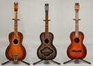 Three Regal Parlor Guitars