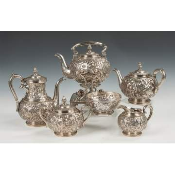 Gorham Sterling Silver Six-Piece Coffee and Tea Set