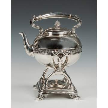 Tiffany and Co. Sterling Silver Kettle on Stand