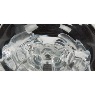 Steuben Clear Glass Bowl with Foliate Base