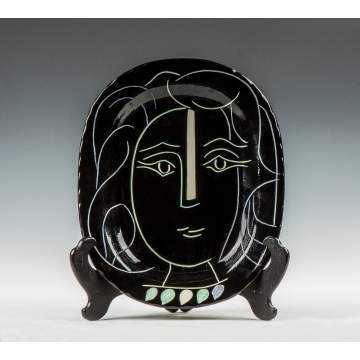 "Pablo Picasso (Spanish, 1881-1973) ""Woman's Face"" Plate"