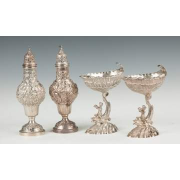 Continental Silver Casters & Salts