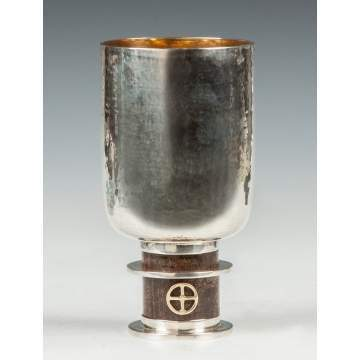 Rufus Jacoby (American, 1912-2008) Hand Hammered Sterling Silver Vase