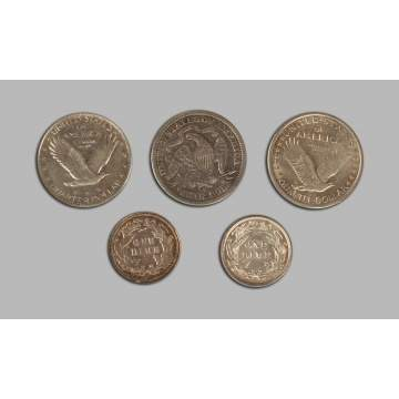 Five Silver Coins