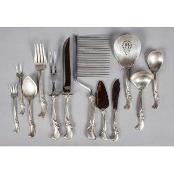 "Wallace Sterling Silver Flatware Set - ""Waltz of Spring"""