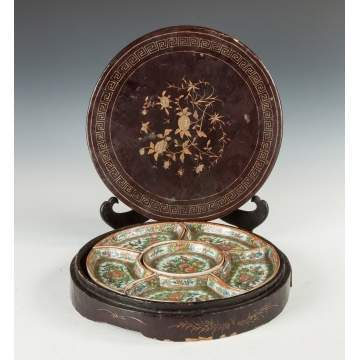 Chinese Rose Medallion Serving Set