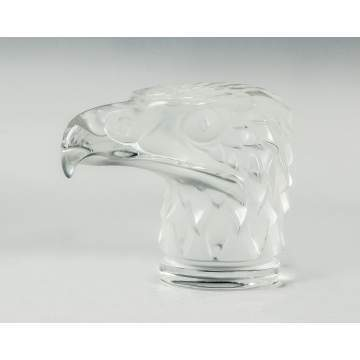 Lalique Frosted Eagle Head