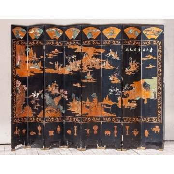 Japanese Lacquered Screen