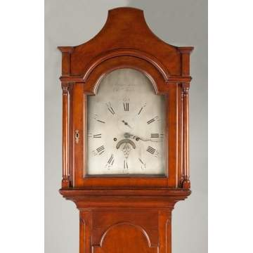 Aaron Lane Tall Case Clock, Elizabethtown, NJ