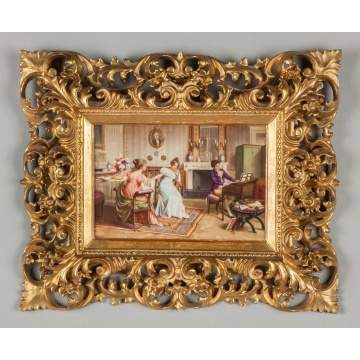 KPM Plaque of a Parlor Scene