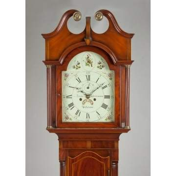 Fine Isaac Schoonmaker Tall Case Clock, Paterson, NJ