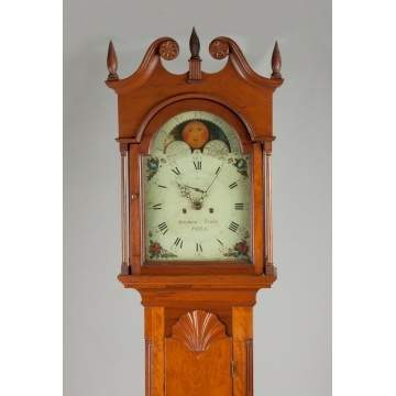 Solomon Parke Tall Case Clock, Philadelphia, PA