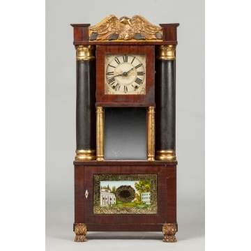 E. & G. W. Bartholomew Hollow Column Shelf Clock