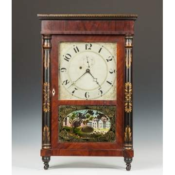 Rare Spencer & Hotchkiss Shelf Clock, Salem Bridge, CT