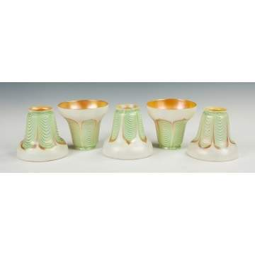Five Steuben Art Glass Shades