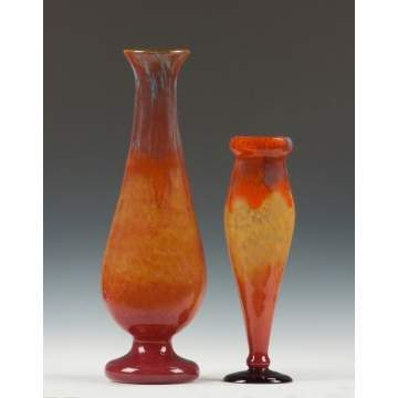 Schneider Art Glass Vases