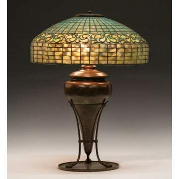 Tiffany Studios, NY, Lemon Leaf Lamp