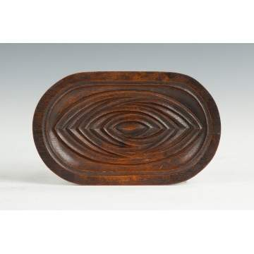 Charles Rohlfs Carved Oak Calling Card Tray