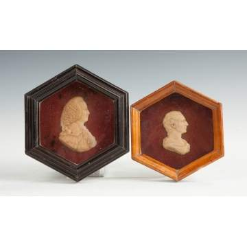 Two Wax Portraits