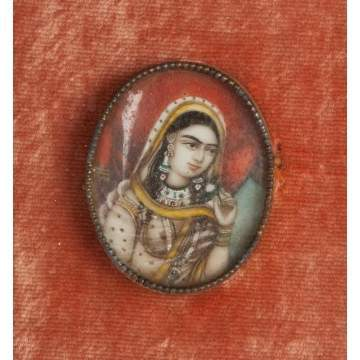 Miniature Watercolors of Indian Royalty