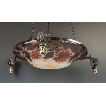 Daum Nancy Cameo Glass Hanging Fixture