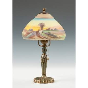 Pairpoint Reverse Painted Boudoir Lamp
