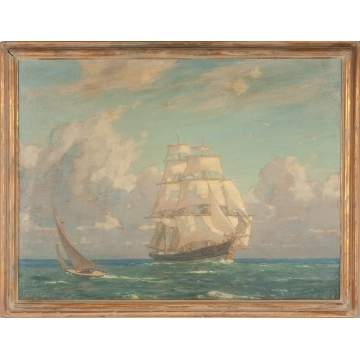 John Inglis (American, 1867-1946) Clipper Ship Seascape