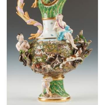 "Monumental Meissen ""Earth"" Ewer from the ""Four Elements"" Series"