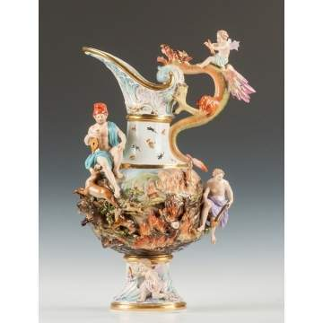 "Monumental Meissen ""Fire"" Ewer from the ""Four Elements"" Series"