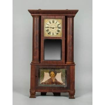 Austin Chittenden Hollow Column Shelf Clock, Lexington, MA