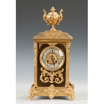 French Gilt Bronze Shelf Clock