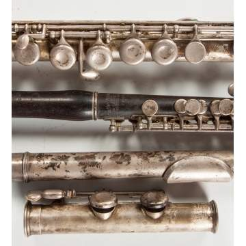 The Haynes Piccolo Co., Boston, Silver & Rosewood Flute