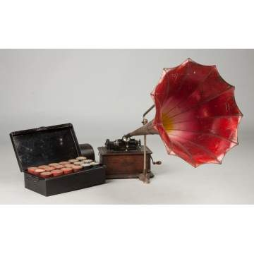 Edison Standard Phonograph with Morning Glory Horn