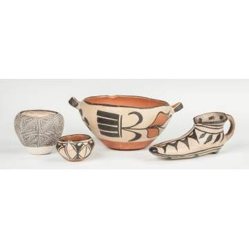 Group of Acoma Pottery