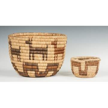 Two Papago Baskets