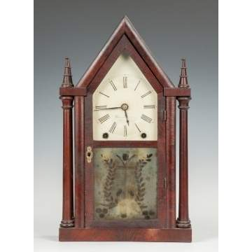 Brewster & Ingraham Four-Column Steeple Clock