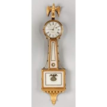 E. Howard & Co. Boston, Reissue Presentation Banjo Clock, S. Willard Patent