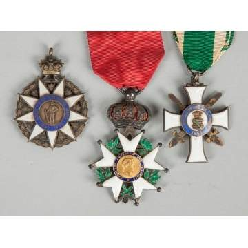 Group of Three Medals