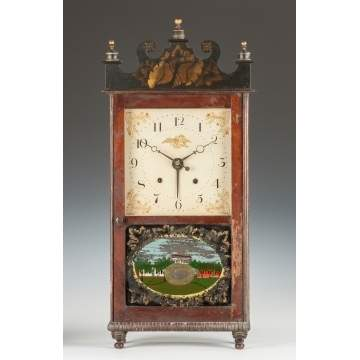 Rare William Sherwin Alarm Shelf Clock, Buckland, MA