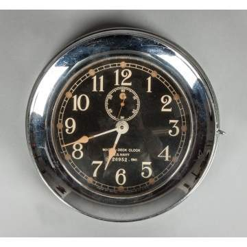 1941 US Navy Mark 1-Deck Clock