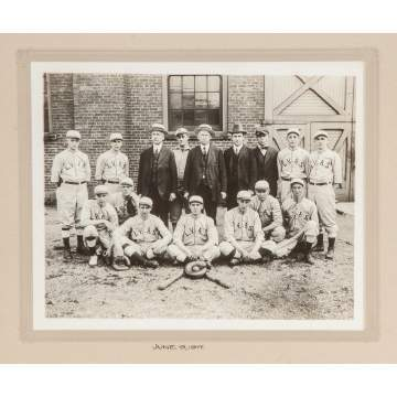1917 Photograph of a Baseball Team