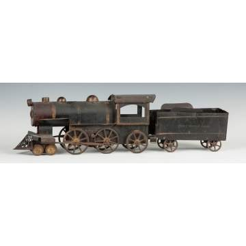 Pressed Tin & Painted Hill Climber Engine & Tender